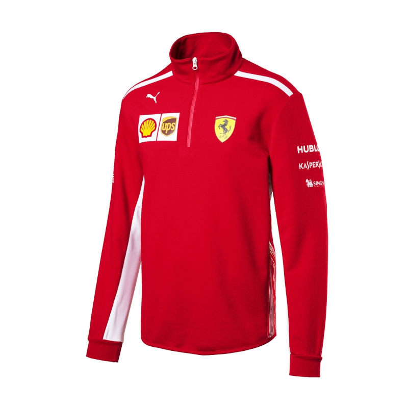 e1e2867c3333 Puma Ferrari férfi pulóver Half Zip red F1 Team 2018 - FAN-store.hu