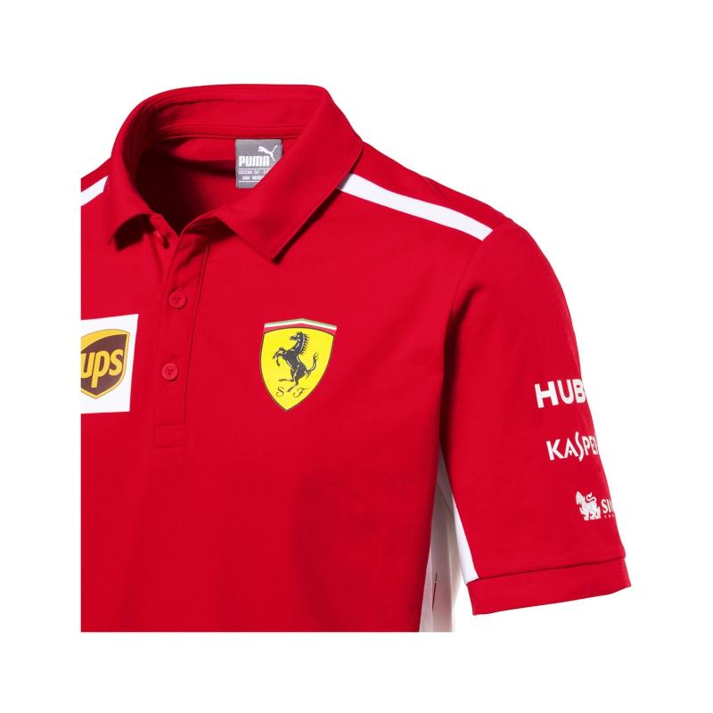 Puma Ferrari férfi galléros póló red F1 Team 2018 - FAN-store.hu 7c41b26254