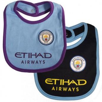 Manchester City gyerek nyálazó előke 2 Pack Bibs PL