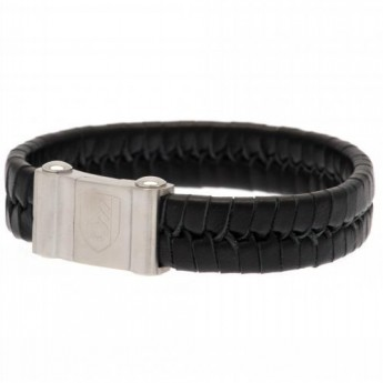 Fulham bőr karkötő Plait Leather Bracelet