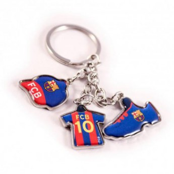 FC Barcelona kulcstartó 3 Charm Keyring
