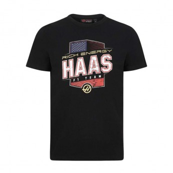 Haas F1 férfi póló Graphic USA Logo black F1 Team 2019