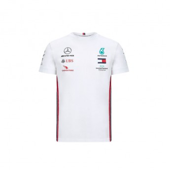 Mercedes AMG Petronas férfi póló white F1 Team 2020