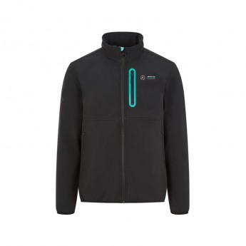 Mercedes AMG Petronas férfi kabát badge softshell black F1 Team 2020