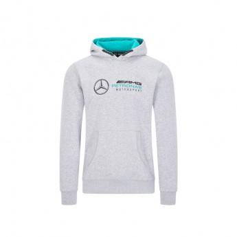 Mercedes AMG Petronas férfi kapucnis pulóver logo hooded grey F1 Team 2020