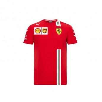 Ferrari férfi póló Leclerc red F1 Team 2020