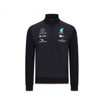 Mercedes AMG Petronas férfi pulóver half zip black F1 Team 2020