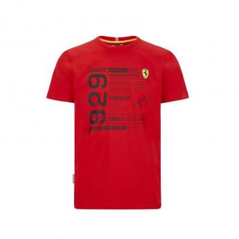 Ferrari férfi póló infographic red F1 Team 2020