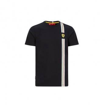 Ferrari férfi póló Italian flag black F1 Team 2020