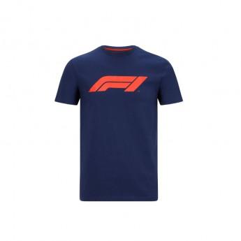 Forma 1 férfi póló logo navy blue 2020