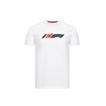 Forma 1 férfi póló heart white 2020