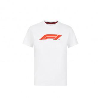 Forma 1 gyerek póló logo white 2020