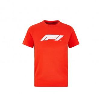 Forma 1 gyerek póló logo red 2020