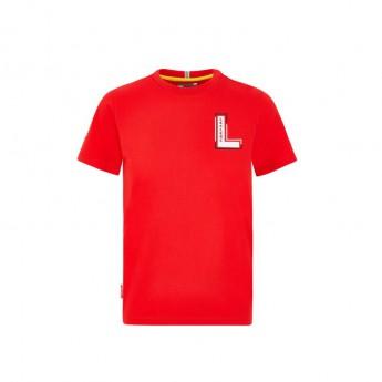 Ferrari gyerek póló Leclerc driver red F1 Team 2020