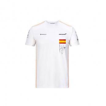 Mclaren Honda férfi póló Carlos Sainz white F1 Team 2020