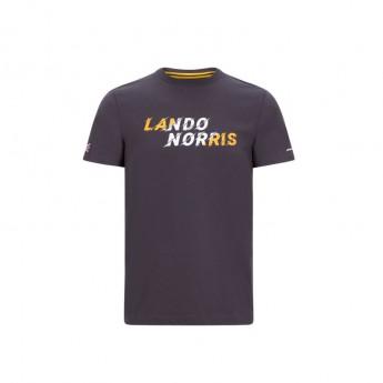 Mclaren Honda férfi póló Lando Graphic Antracit F1 Team 2020