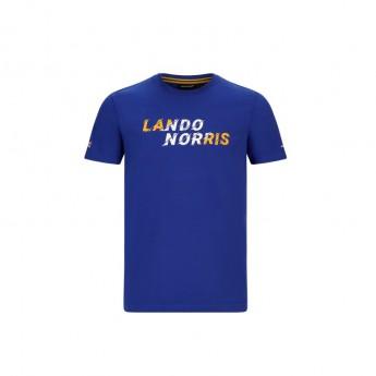 Mclaren Honda férfi póló Lando Graphic Blue F1 Team 2020