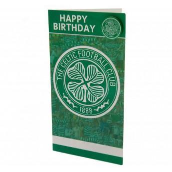 FC Celtic születésnapi köszöntő Birthday Card & Badge