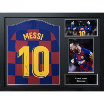Legendák bekeretezett mez FC Barcelona Messi 2019-20 Signed Shirt (Framed)