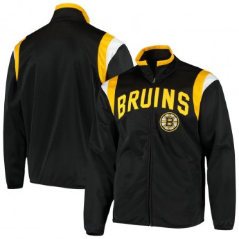 Boston Bruins férfi kabát Black Post Up Full-Zip Track