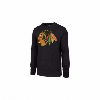 Chicago Blackhawks férfi hosszú ujjú póló Line Up MVP 47 Club Long Sleeve Tee