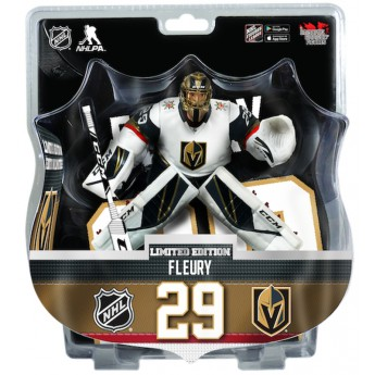 Vegas Golden Knights bábu Marc-Andre Fleury #29 mports Dragon Exclusive 2019-20 white