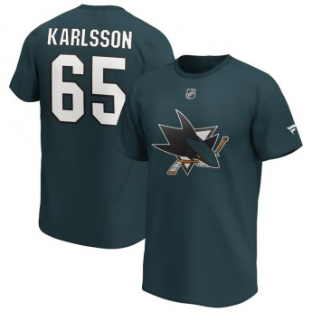 San Jose Sharks férfi póló Erik Karlsson Iconic Name & Number Graphic