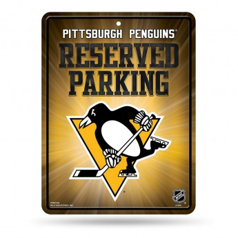 Pittsburgh Penguins fali tábla Auto Reserved Parking