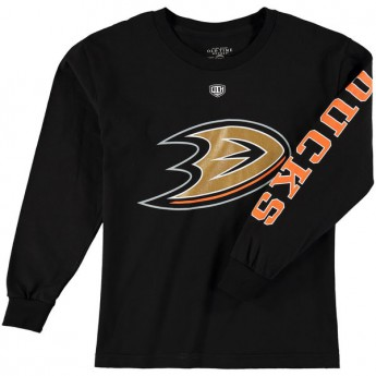 Anaheim Ducks gyerek hosszú ujjú póló black Old Time Hockey Two Hit Long Sleeve