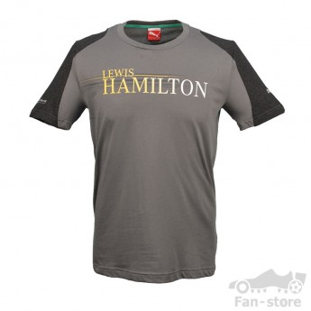 Puma Mercedes AMG Petronas Hamilton grau férfi póló