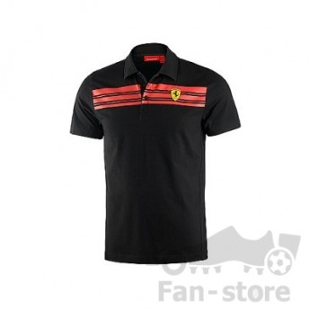 Scuderia Ferrari férfi galléros póló nero due