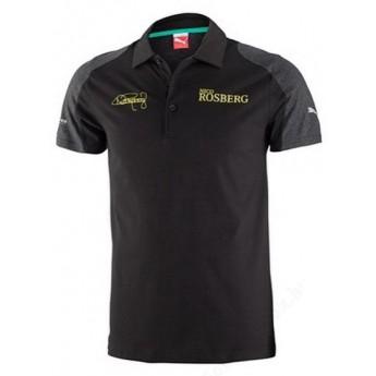 Mercedes AMG Petronas fekete férfi galléros póló Rosberg schwarz