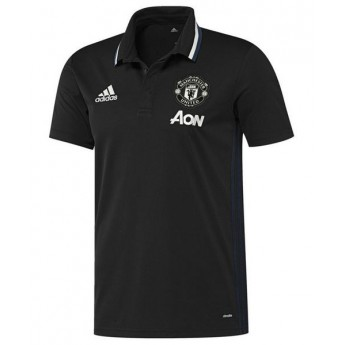 Manchester United férfi fekete galléros póló trg black