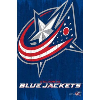 Columbus Blue Jackets NHL poszter Team Logo Cut