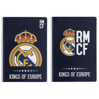 Real Madrid jegyzetfüzet A4 kings of europe blue