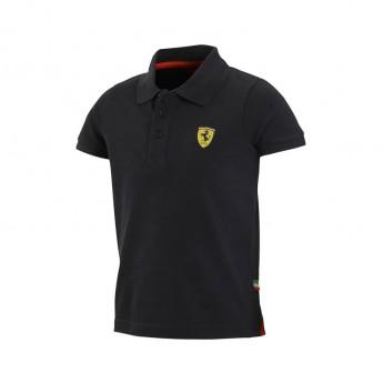 Ferrari gyerek galléros póló Classic black big logo F1 Team 2016