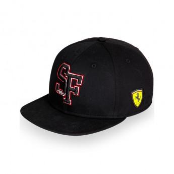 Ferrari siltes sapka Flat Brim SF Black F1 Team 2016
