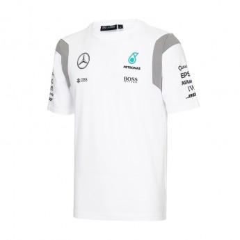 Mercedes AMG Petronas férfi póló white Team F1 2016
