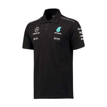 Mercedes AMG Petronas férfi galléros póló black F1 Team 2017