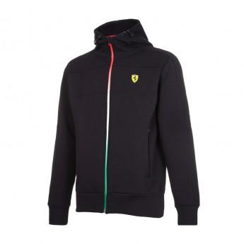 Ferrari férfi kapucnis pulóver Tricolore black F1 Team 2017