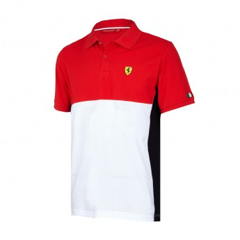 Scuderia Ferrari férfi galléros póló Cut and Sew red F1 Team 2017