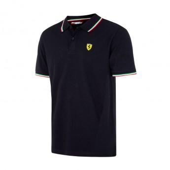 Scuderia Ferrari férfi galléros póló Tricolore black F1 Team 2017