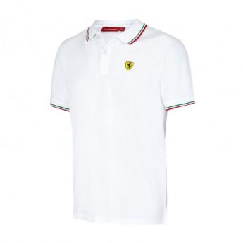 Scuderia Ferrari férfi galléros póló Tricolore white F1 Team 2017