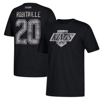 Los Angeles Kings férfi póló black #20 Luc Robitaille Retired