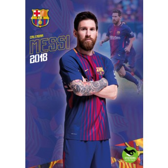 Lionel Messi naptár 2018 (29 x 42cm) + 12 matrica