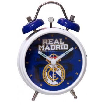 Real Madrid asztali ébresztőóra blue logo