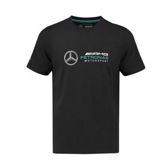 Mercedes AMG Petronas férfi póló Logo black F1 Team 2018