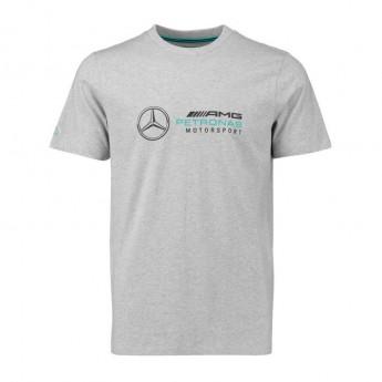 Mercedes AMG Petronas férfi póló Logo grey F1 Team 2018
