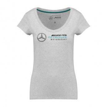 Mercedes AMG Petronas női póló Logo grey F1 Team 2018
