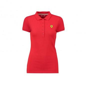 Ferrari dámské női galléros póló Classic red F1 Team 2018